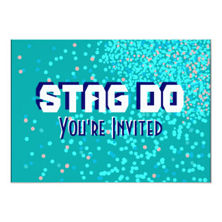 Bachelor Stag Party blue invite