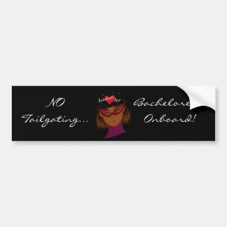 """Bachelorette Onboard"" Bumper Sticker-Customizable Car Bumper Sticker"