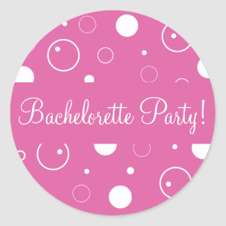 Bachelorette Party Bubbles Envelope Sticker Seal