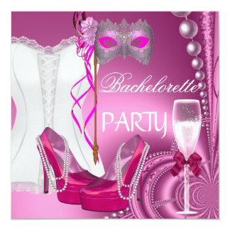 Bachelorette Party Corset Pink Shoes mask Card