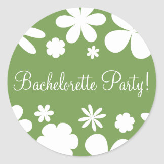 Bachelorette Party Daisy Chain Envelope Seal Round Sticker