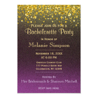 Bachelorette Party | Gold and Purple