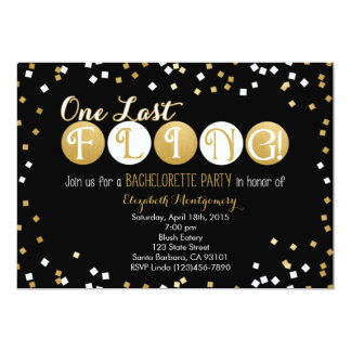 Bachelorette Party Invitation Black and Gold