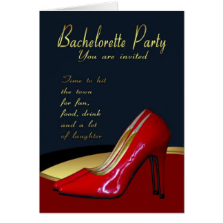 Bachelorette Party Invitation Card - Bachelorette