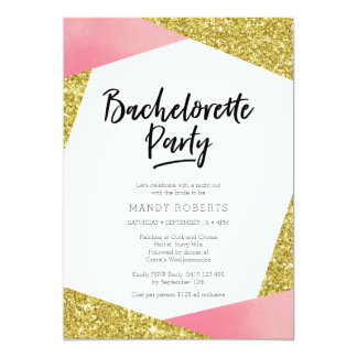 Bachelorette Party Invitation | Pink & glitter