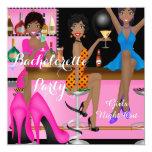 Bachelorette Party Pink Blue Shoe High Heels Shoe Invitation