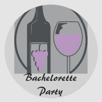 Bachelorette Party Round Sticker