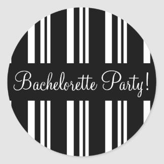 Bachelorette Party Striped Envelope Sticker Seal