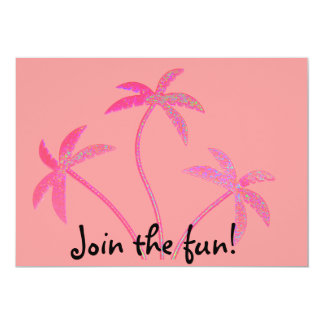 Bachelorette Pink Palm Trees Card