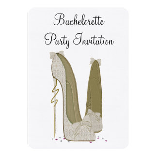 Bachelorette Stiletto Shoes Party Invitation