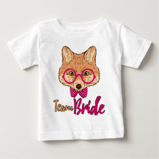 Bachelorette T-Shirt | Team Bride Hipster Fox Tee