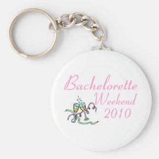 Bachelorette Weekend 2010 Basic Round Button Key Ring