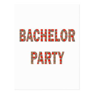 BACHOLER PARTY: Engagement, Wedding, Honeymoon Postcard
