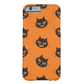 Back devil cats orange eyes pattern Halloween Barely There iPhone 6 Case