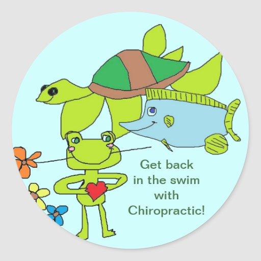 Back in swim with Chiropractic stickers