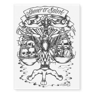 Back piece tattoo, sinner or saint