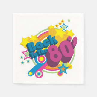 Back To The 80's Retro 80's Party Napkins Disposable Serviette