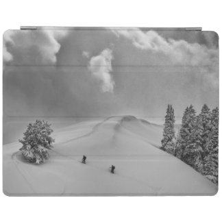 Backcountry Ski Climbers in fresh powder iPad Cover
