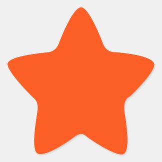 Background Color Orange Star Sticker