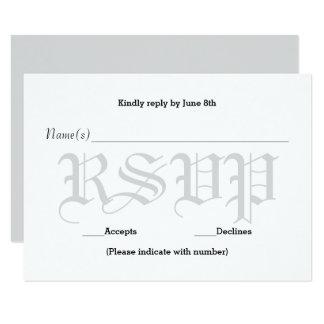 Background Gray Wedding Text - RSVP Response Card