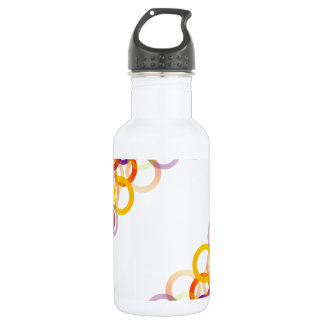 Background with colorful circles 532 ml water bottle