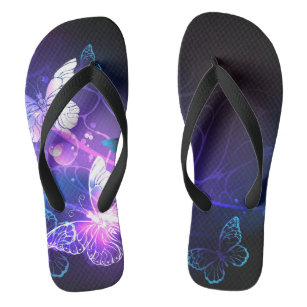 Background with Night Butterflies Jandals