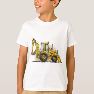 Backhoe Digger Construction Kids T-Shirt