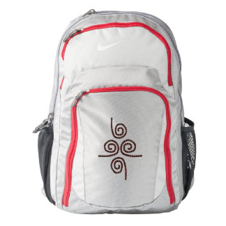 Backpack Gray Red