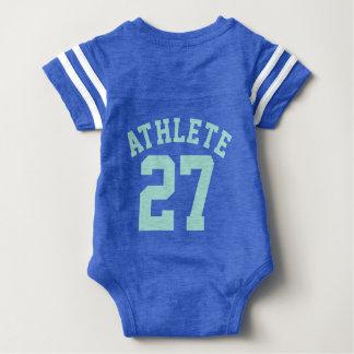 Backside Blue & Aquamarine Baby | Sports Jersey Baby Bodysuit