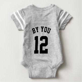 Backside Gray & Black Baby | Sports Jersey Design Baby Bodysuit