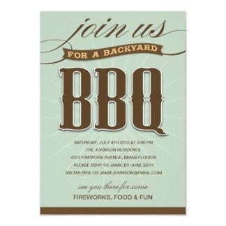 BACKYARD BBQ  | PARTY INVITATION