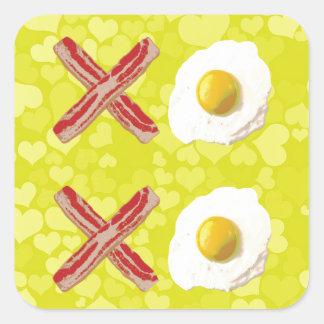 Bacon and Eggs - XOXO Square Sticker