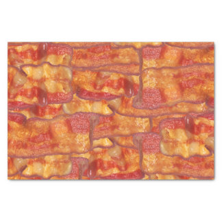 Bacon Background Pattern, Funny Fried Food Tissue Paper