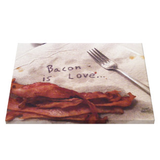 Bacon is Love Canvas Print