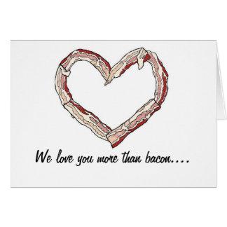 Bacon Lover's Thank You Card