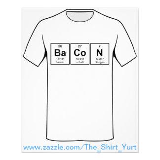 Bacon Periodic Table Element Symbols Flyer