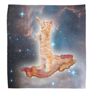 Bacon Surfing Cat in the Universe Head Kerchiefs