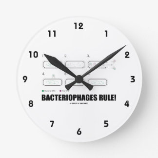 Bacteriophages Rule! (Bacteria Virus DNA) Round Clock