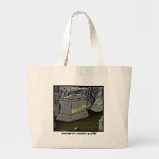 Bad Cemetary Grafitti Funny Large Tote Bag