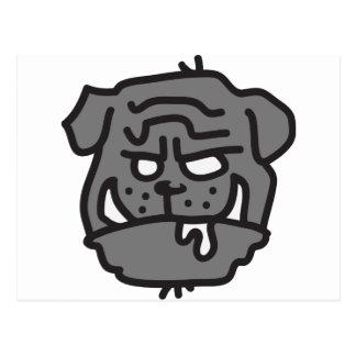 bad dog - HUND Postkarten
