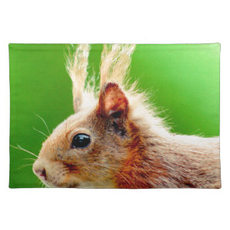 Bad hair day squirrel placemat