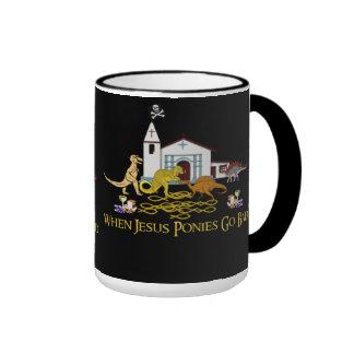Bad Jesus Ponies Ringer Mug