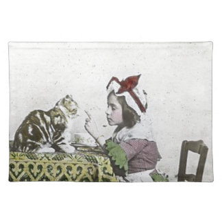 Bad Kitty Victorian Tea Party Vintage Little Girl Placemat