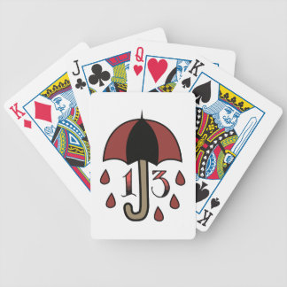 Bad Luck Umbrella Bicycle Playing Cards