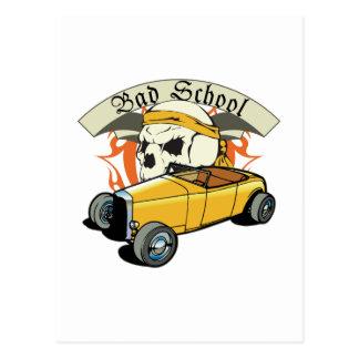 Bad School Hotrod Postcard
