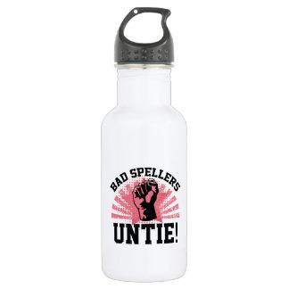 Bad Spellers Untie! 532 Ml Water Bottle