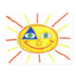Badass Sun Postcard