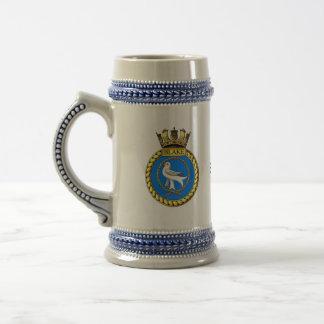 Badge of HMS Blake Beer Stein