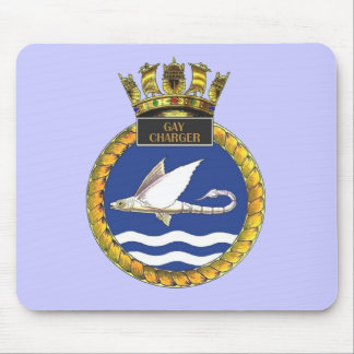 Badge of HMS Gay Charger Mouse Pad