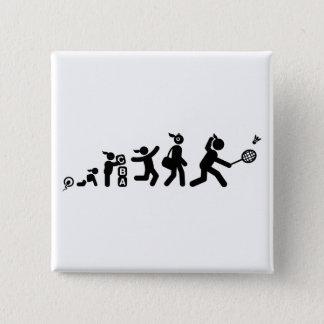 Badminton 15 Cm Square Badge